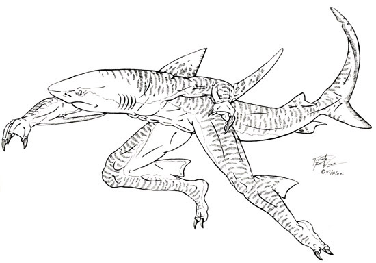 Scarey Jaws The Shark - Free Coloring Pages