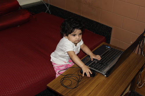 Nerjis Asif Shakir Is Internet Savvy 14 Month Old Geek by firoze shakir photographerno1