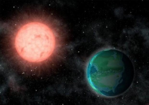 Rappresentazione artistica del pianeta roccioso Proxima b vicino alla sua stella, Proxima Centauri, a 4,5 anni luce dalla Terra (fonte: Jack O'Malley-James/Cornell University) © Ansa
