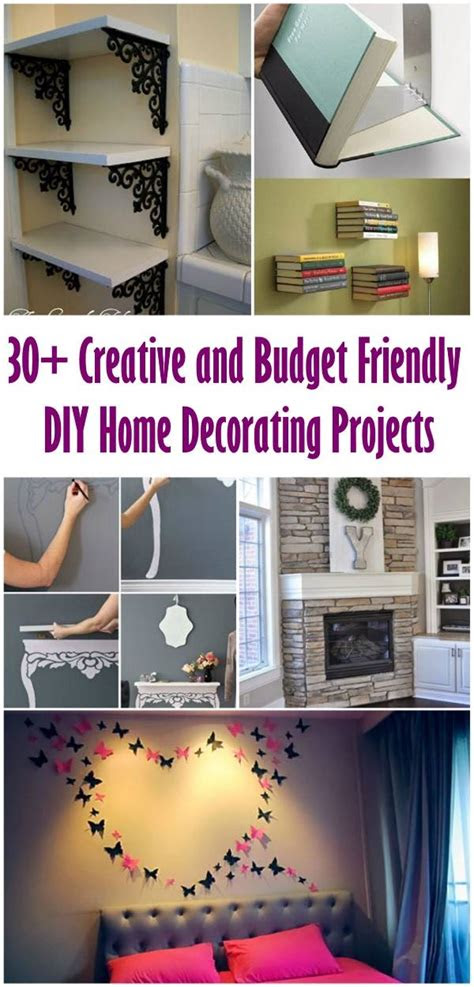 creative  budget friendly diy home decorating