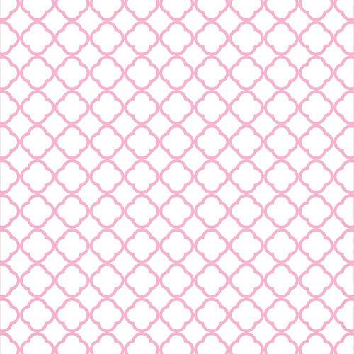 16 pink lemonade  QUATREFOIL OUTLINE melstampz