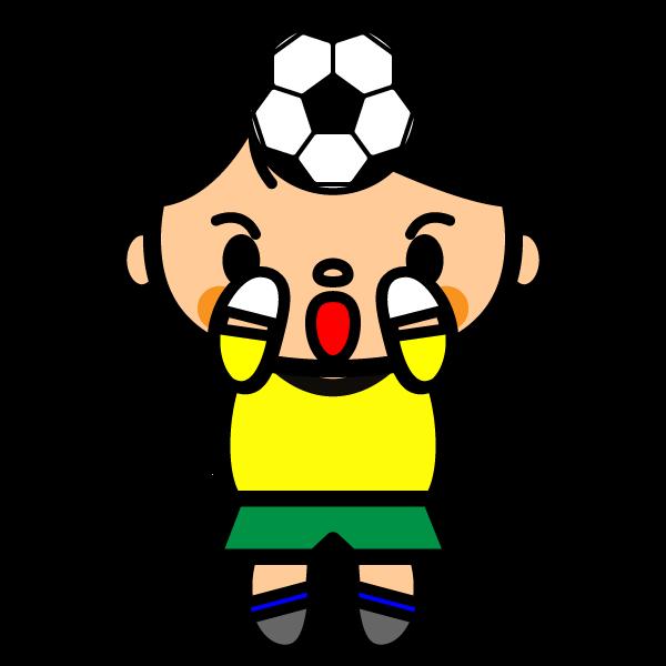 かわいいサッカーキーパーの無料イラスト商用フリー オイデ43
