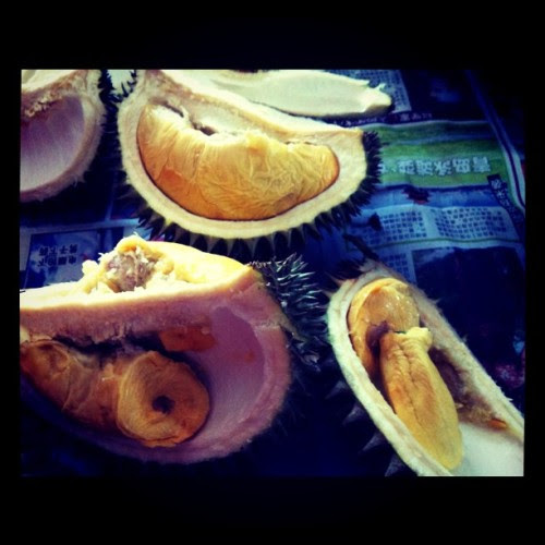 First round of durian for today! ^^ (Taken with instagram)