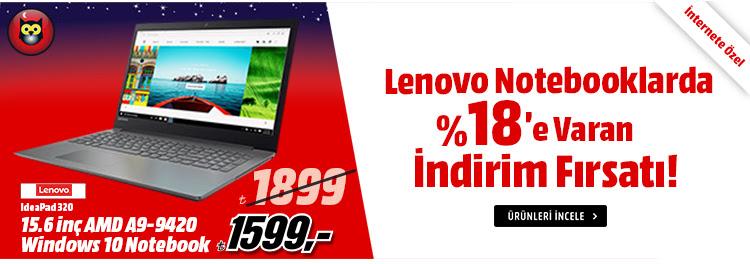 Lenovo Notebooklarda %18'e Varan İndirim Fırsatı!