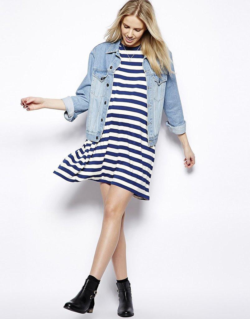 asos striped maternity tshirt dress  10 ways to refresh