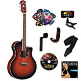 Yamaha APX500II Dark Red Burst Acoustic Electric Guitar BUNDLE w/Legacy Acc Kit (Tuner,DVD and More)