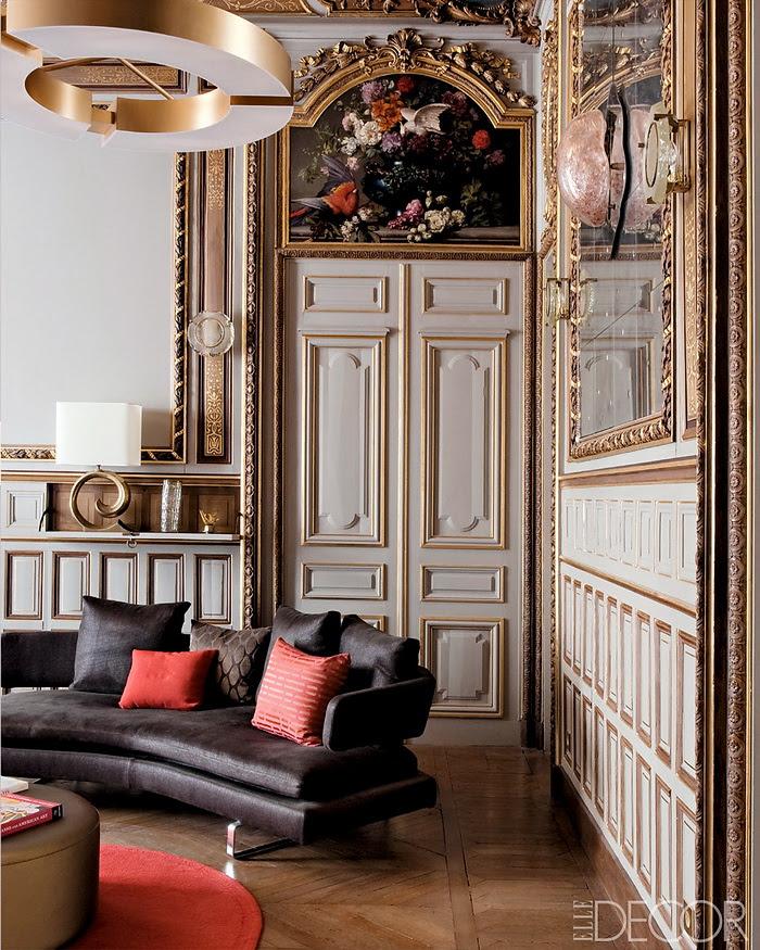 Elle Decor retornar à forma um apartamento em Paris moderna 4