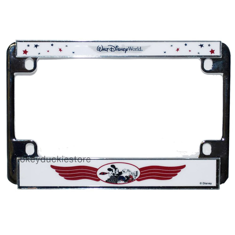 Walt Disney World Mickey Mouse Motorcyclebike License Plate Frame