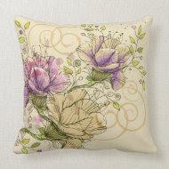 floral vintage American MoJo Throw Pillows throwpillow