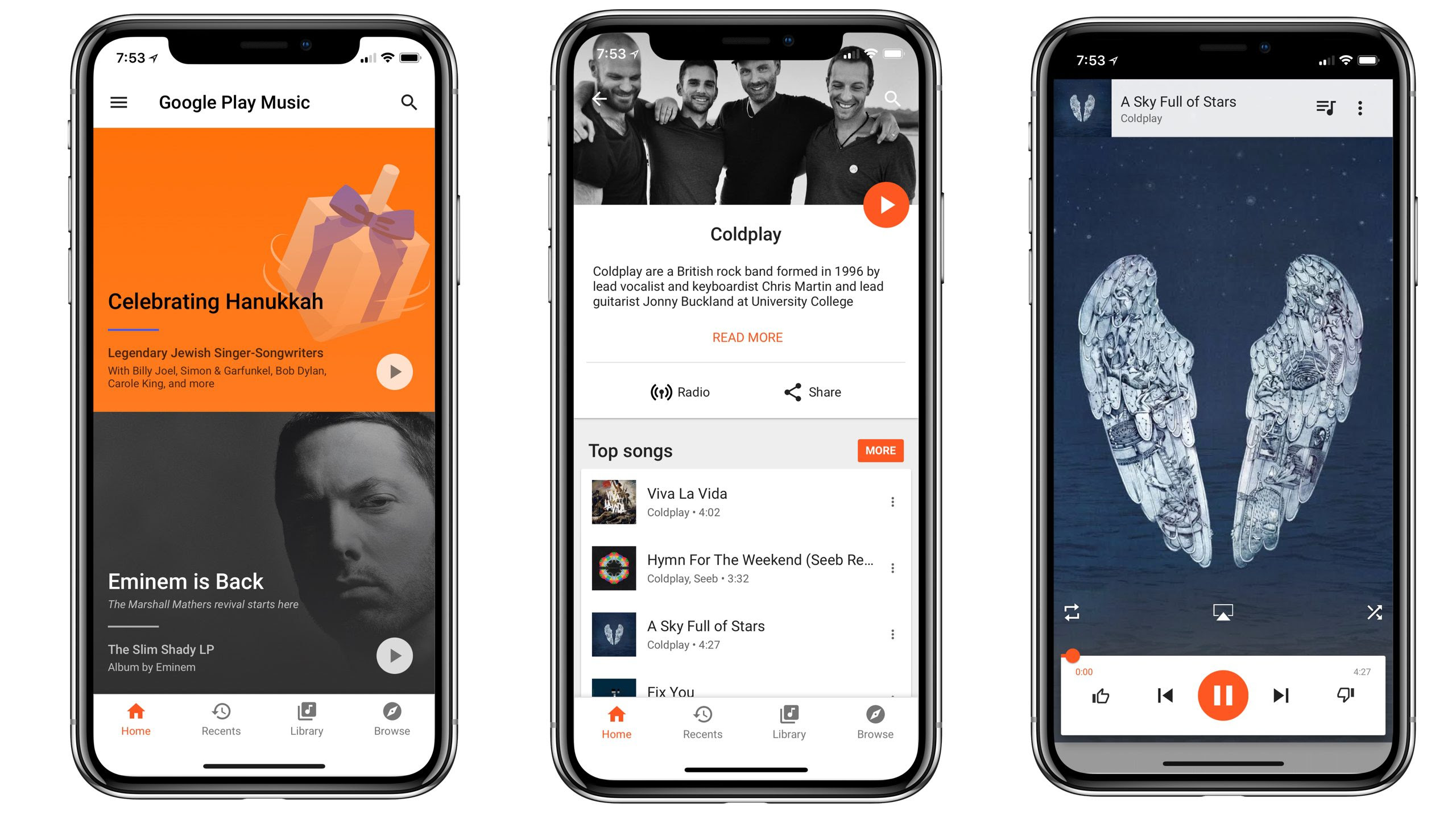 Google Play Music Updated With Support For Iphone X