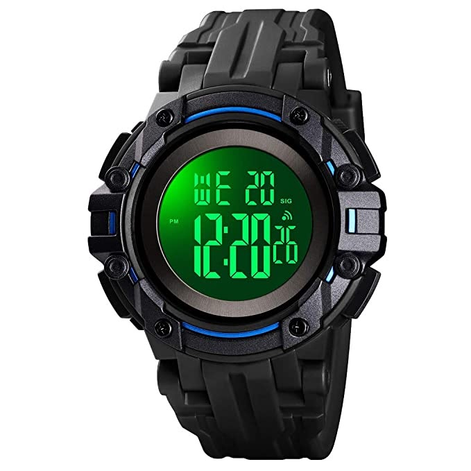 Men's Digital Sports Watch Waterproof