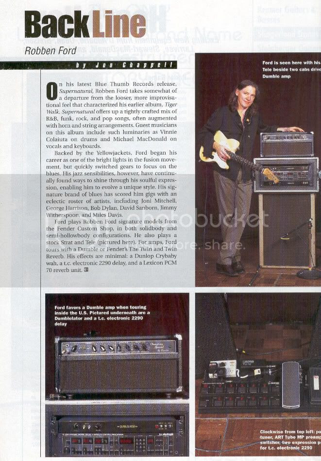 Robben Ford Gear