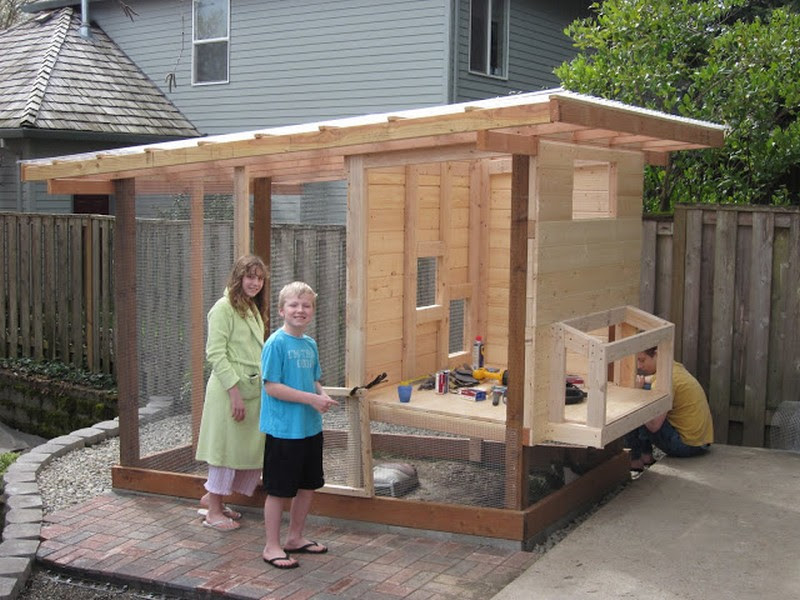 Chicken Coop Homemade | movable chicken