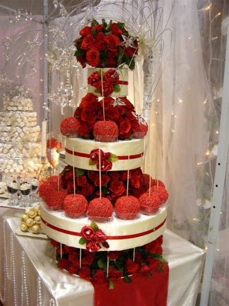 Caramel Apple Wedding Cake Tower. Certainly suits a red