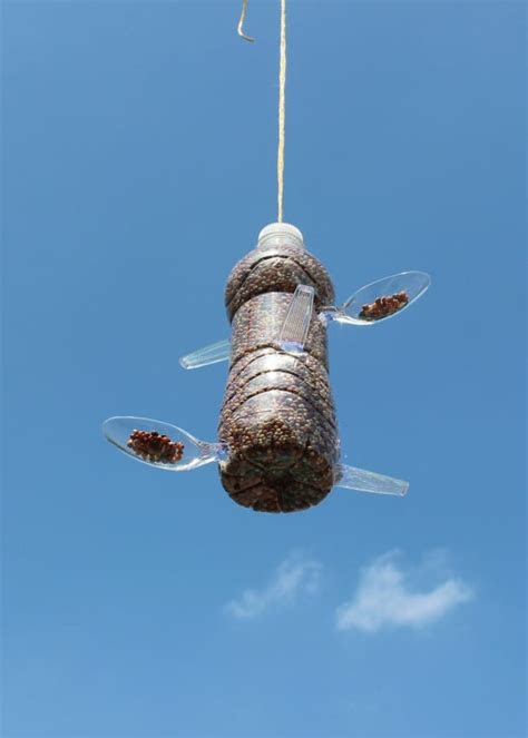 diy recycled plastic bottle bird feeder  garbage