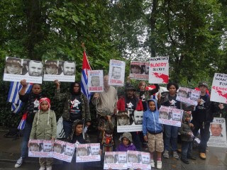 Protest in UK for the release of French Journalists, Thomas Dandois and Valentine Bourrat