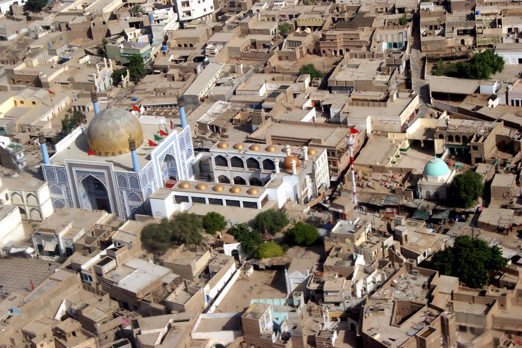 Sehwan Sharif In Sindh Province Pakistan An Aerial View