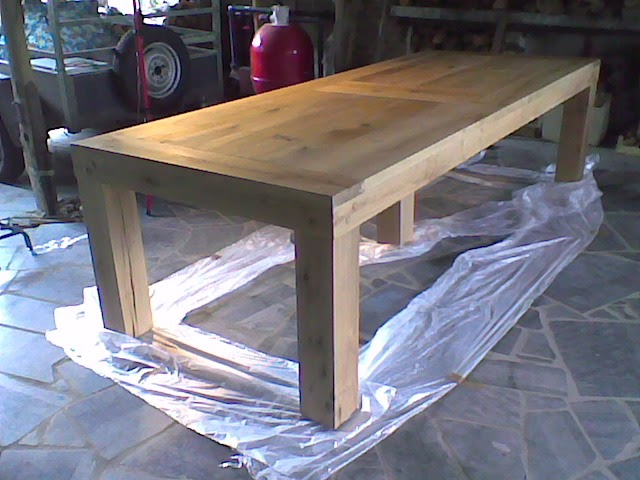 fabriquer une console en bois maison design. Black Bedroom Furniture Sets. Home Design Ideas
