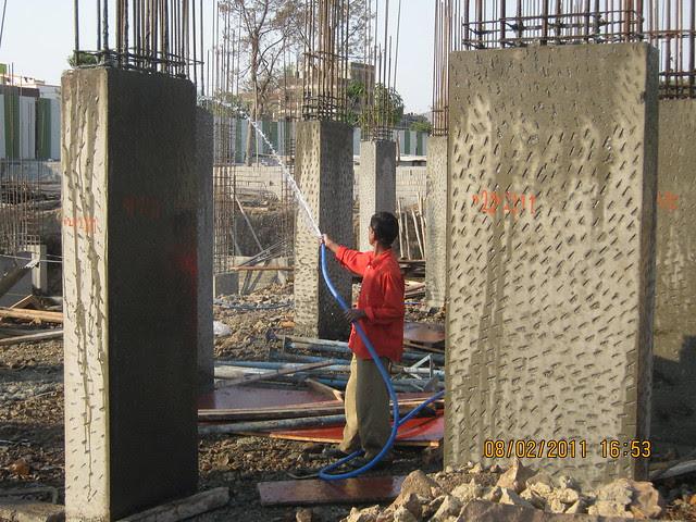 Vastushodh's Urbangram - 2 BHK Flat for Rs. 20 Lakhs - at Kondhawe Dhawade - Pune 411 023 - Construction Begins! - watering!