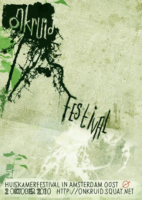 Flyer Onkruid Festival Amsterdam-Oost
