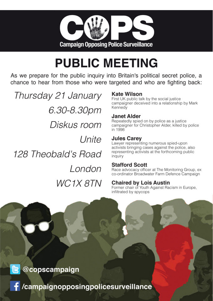 COPS public meeting 21 January 2016