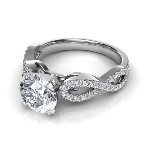 Infinity Design Diamond Wedding Band