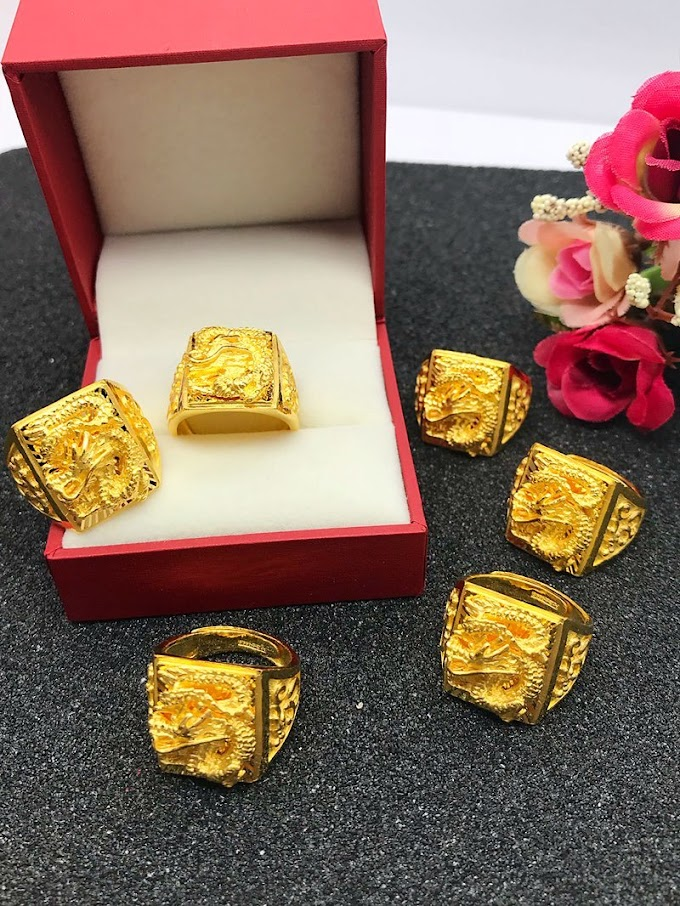 Real AU 999 Solid Gold Rings Elegant Trendy Jewelry For Men 24K Pure Gold Ring