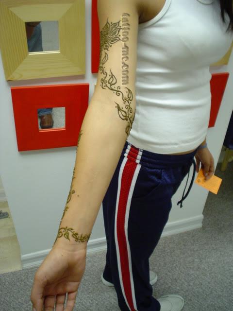 Flower And Vine Henna Tattoo Copy Tattoo Me