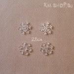 Акриловые Снежинки 2,5см 4шт