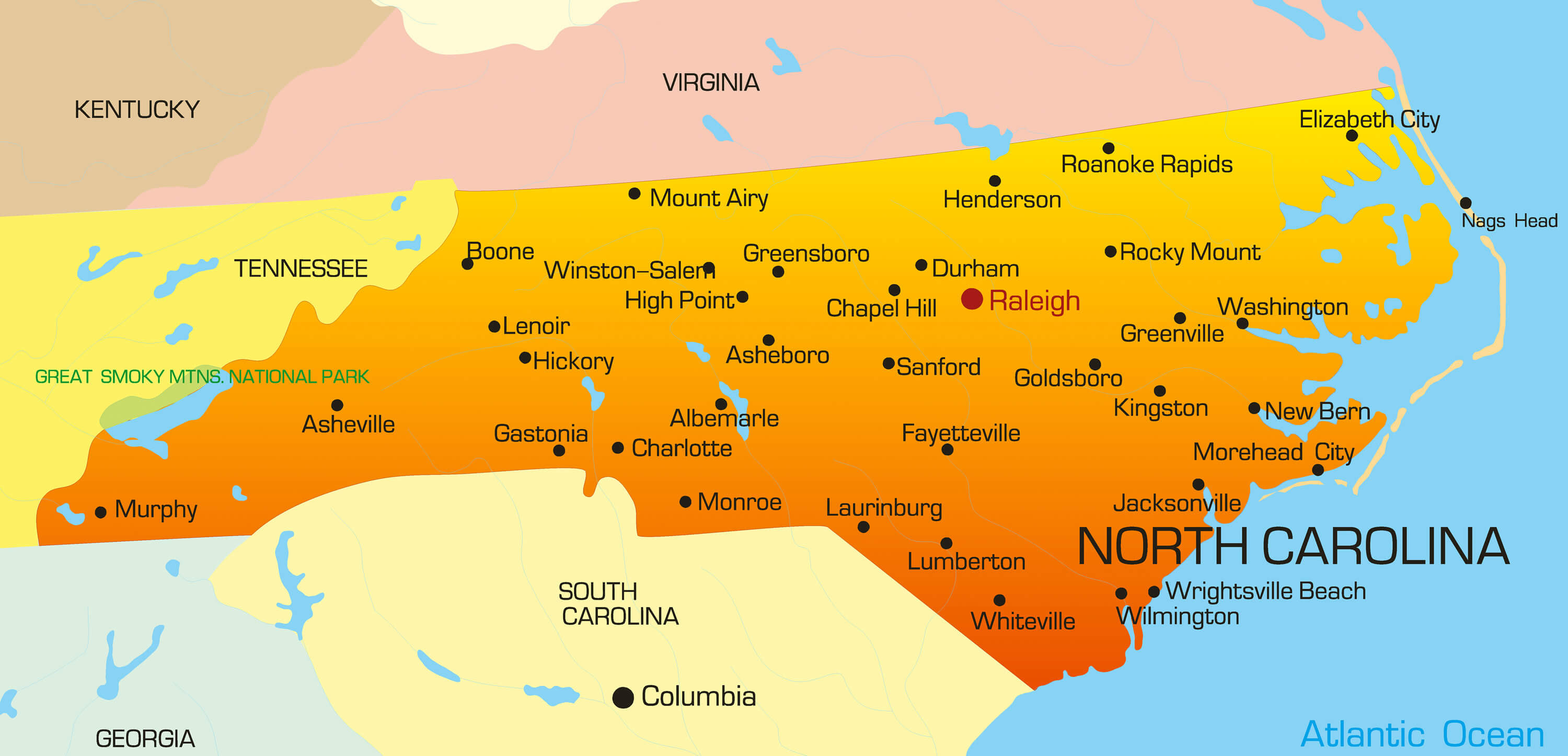color_map_of_north_carolina