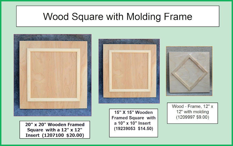Wood Framed Square 3 Sizes 20 X 20 Or 15 X 15 Or 12 X 12