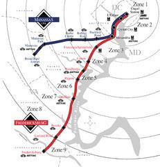 Virginia Railway Express station map