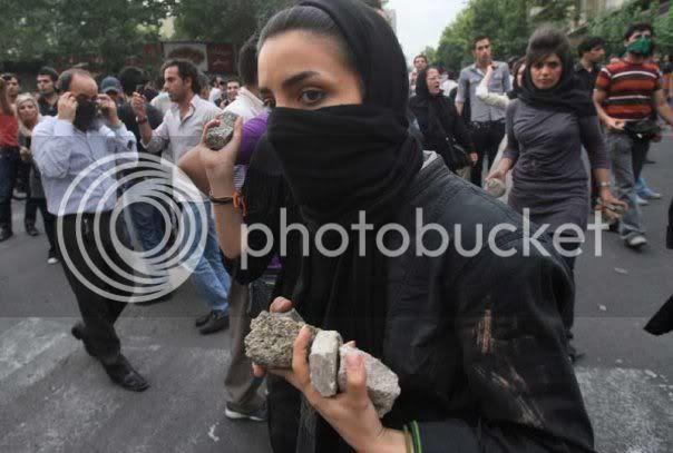 Woman With Rocks