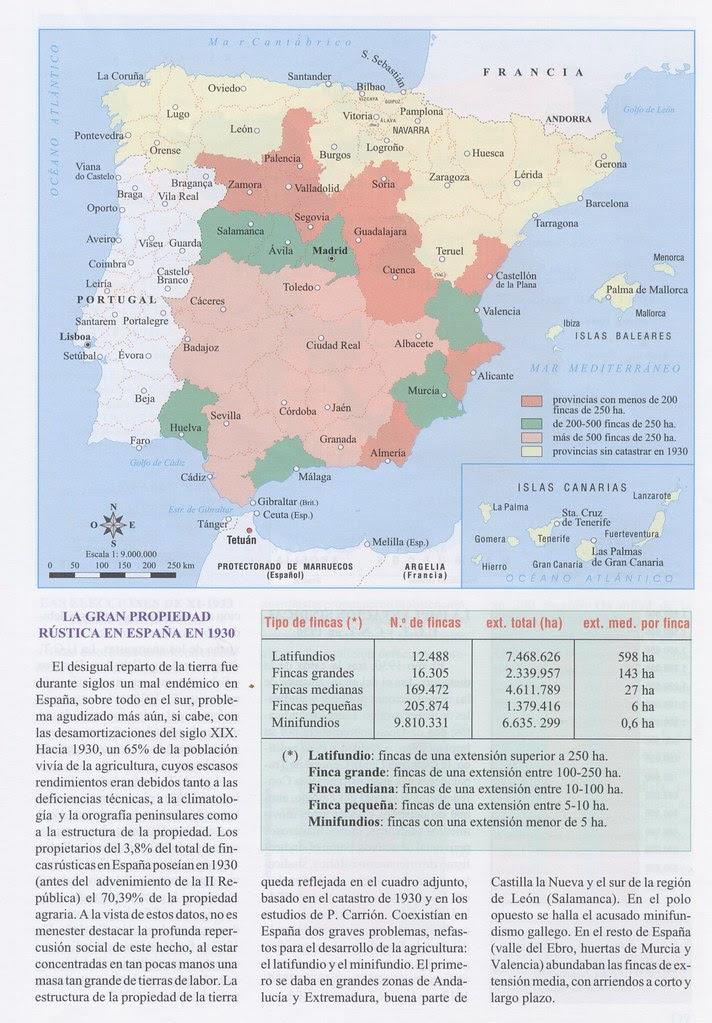 La gran propiedad rústica en España II República