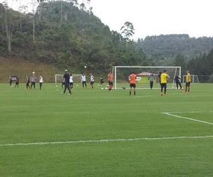 Treino Botafogo Espírito Santo (Foto: Thiago Lima / GloboEsporte.com)