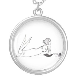 Jane Austen inking Pride and prejudice necklace