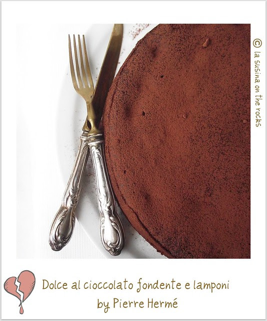 dolce al cioccolato fondente e lamponi bypierre hermé