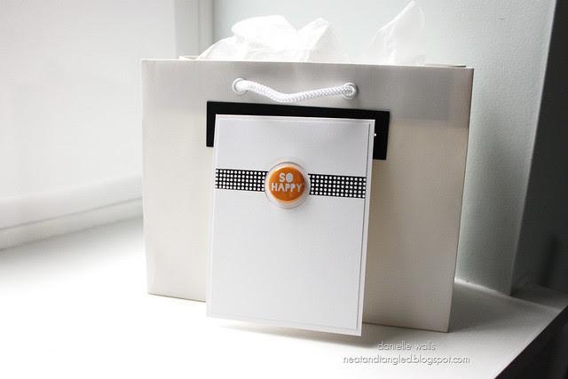 Gift Packaging using Card Hanger Die