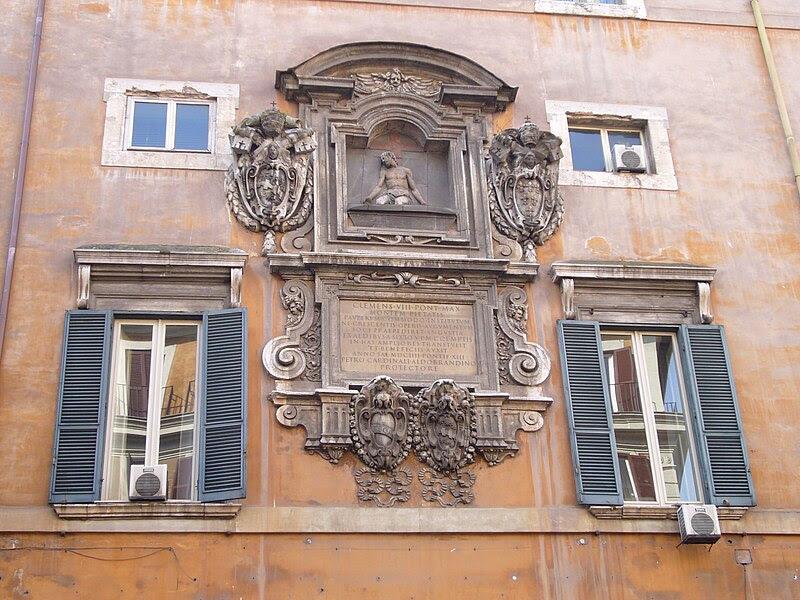 File:Regola - palazzo del Monte di Pietà - Cristo e memoria di Clemente VIII 1150897.JPG