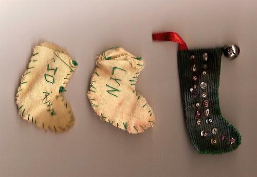 Hand-sewn Christmas stockings