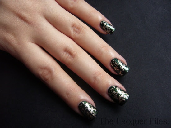 China Glaze Gussied Up Green with 2030 and Bundle Monster Plate BM21