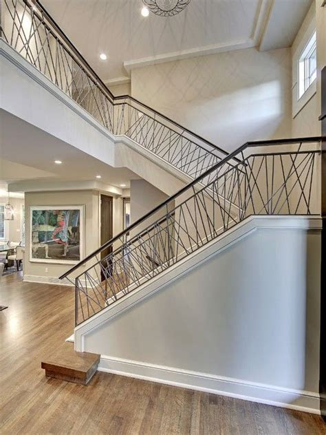 contemporary stair  hand railing transitional