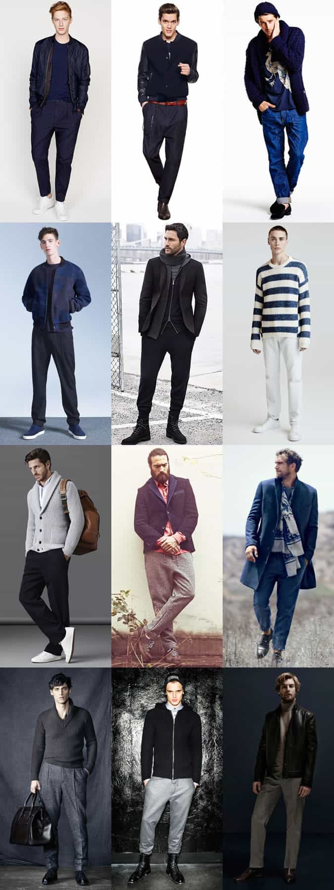 Men's Full/Straight Cut Clothing and Trousers Outfit Inspiration Lookbook