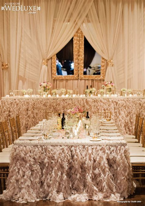 2014 ivory champagne an gold wedding reception decorations