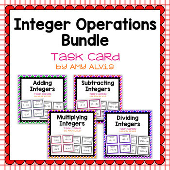 Integer Task Cards Bundle - 144 task cards - SCOOT