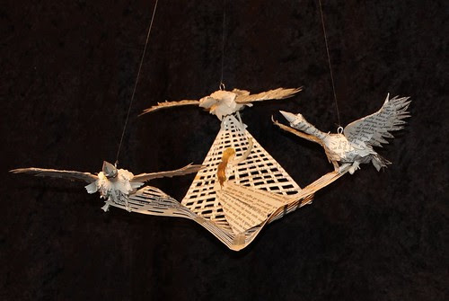 The Wild Swans book sculpture