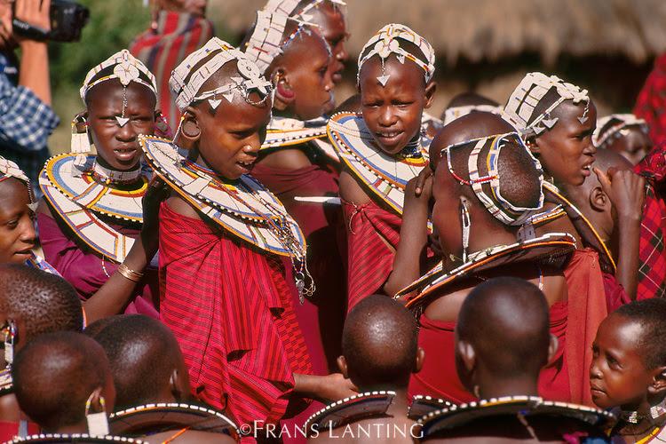 Samburu girls, Kenya