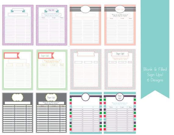 1000+ images about sign-up on Pinterest | Daily schedule printable ...