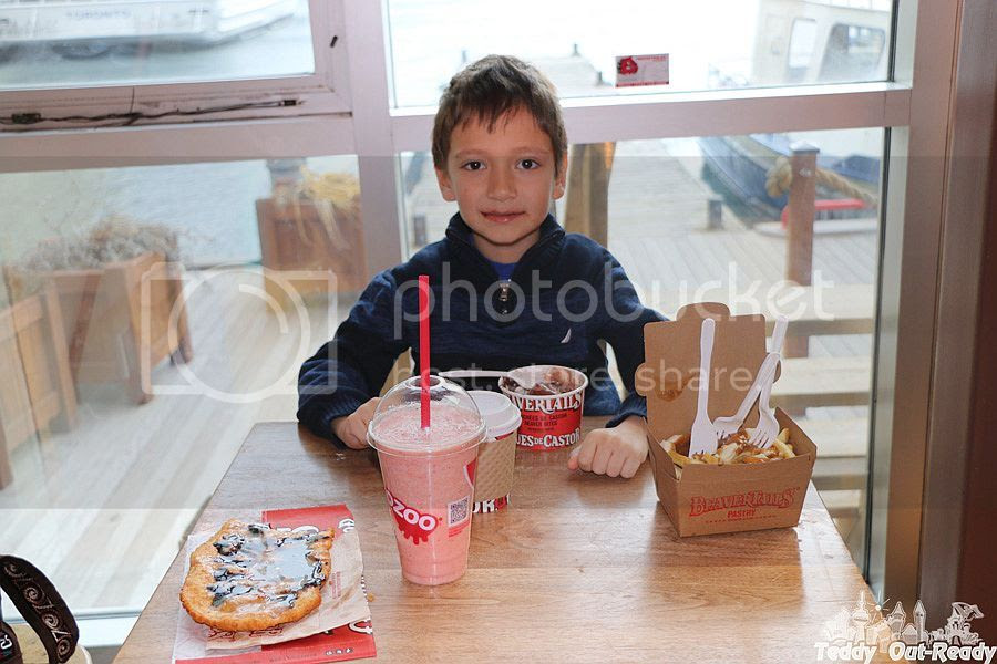Teddy at Beaver Tails store