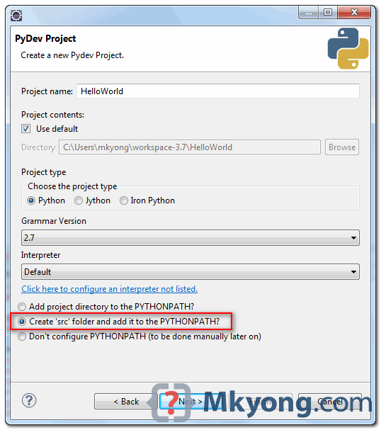 Django Eclipse: How to setup settings module in eclipse (trying to